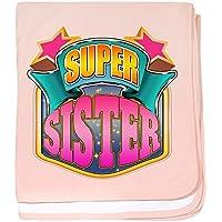 CafePress – ピンクスーパー妹 – スーパーソフトベビー毛布、新生児おくるみ ピンク 05698367716832E