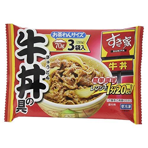 [冷凍] トロナ すき家 牛丼の具 お茶わんサイズ 70g×3袋入り