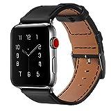 BRG apple watch バンド,本革 ビジネススタイル アップルウォッチバンド アップルウォッチ1 apple watch series 2 apple watch series 3 レザー製 (38mm,ブラック))
