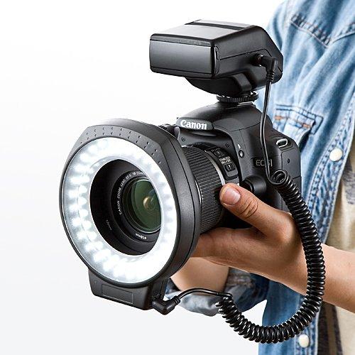 拙者の接写がキレイに撮れる!「カメラLEDリングライト(200-DG010)」