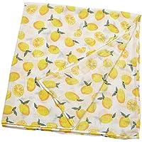SunniMix ベビー ラップ 柔らかい かわいい 毛布 バスタオル 120x120cm 超吸収性 全4種選べる - レモン