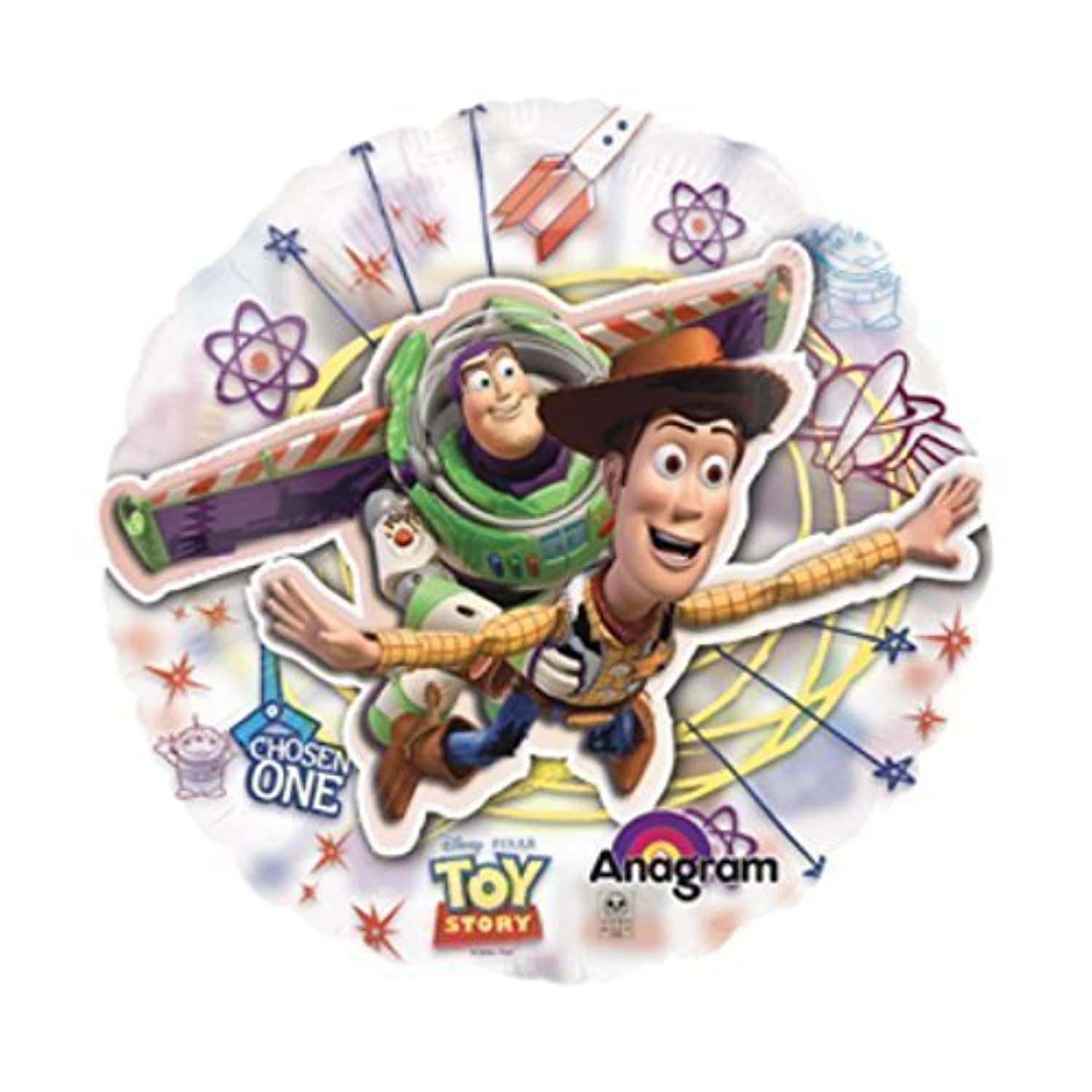 Anagram International Toy Story See-Thru Flat Party Balloons, 26', Multicolor [並行輸入品]
