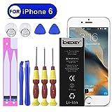 Icheckey iPhone6交換用バッテリー 1810mAh/3.82V PSE準拠リチウムイオン電池 精密工具付き アイフォン6専用スマートフォン電池 交換品 日本語説明書付き?