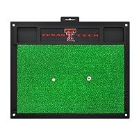 NCAA テキサス工科大学 レッドレイダーズ ゴルフ ヒッティングマット ゴルフ練習アクセサリー