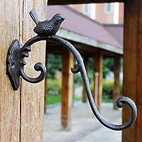 LRW 鋳鉄手工芸品、アイアンタイフック、鳥、ヨーロッパスタイルクラシックノスタルジア様式中庭吊り