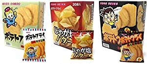 東豊製菓 ポテトフライ 【3種セット】フライドチキン&じゃが塩バター&カルビ焼き 各11g×20袋 計60袋