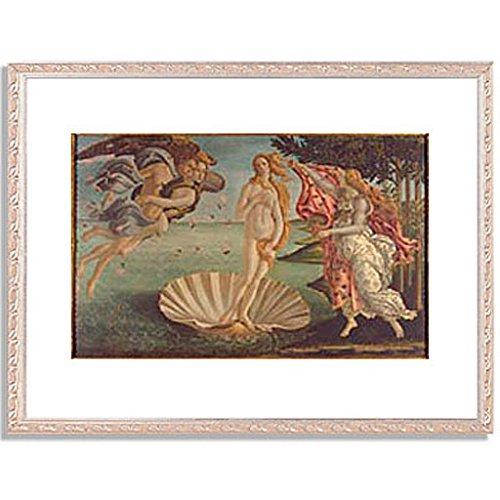 ボッティチェリ「ヴィーナスの誕生 The Birth of Venus. 」 インテリア アート 絵画 プリント 額装作品 フレーム:装飾(銀) サイズ:XL (563mm X 745mm)