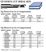 Whiteside Router Bits UD4102M Up/Down Cut Spiral Bit with Solid Carbide Compression 3/8-Inch Cutting Diameter and 1-Inch Cutting Length [並行輸入品]