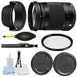 Sigma 18–300mm f / 3.5–6.3DCマクロOS HSM Contemporaryレンズfor Canon EF + Essentialバンドルキット+ 1年保証–インターナ..
