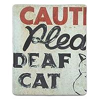 マウスパッド 猫のユーモア 滑り止め 防水 PC ラップトップ 水洗い レーザー 光学式 18*22cm