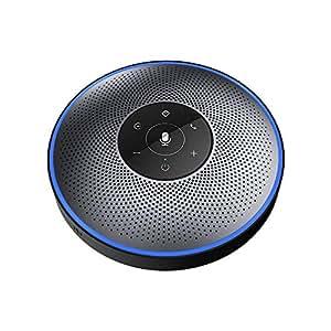 スピーカーフォン eMeet マイクスピーカー ワイヤレススピーカーフォン 遠隔会議用 最大8人まで対応 高音質 Bluetooth 4.2 USB接続 AUX出入力可能 各通話アプリ対応 多数人遠隔会話や大きい部屋でのWEB会議におすすめ OfficeCore M2 グレー