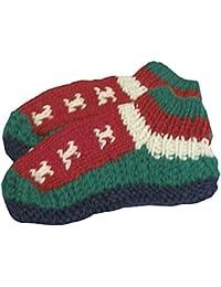 【ノーブランド品】 アジアン衣料 ネパール手編みウールソックス NKU-32