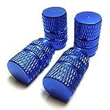 フィット GK エアバルブ キャップ タイヤ エアーキャップ バルブキャップ ブルー 4個セット GK3 GK4 GK5