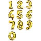 アルミ風船 バルーン オブジェ 巨大数字 ビッグ ナンバー 「0-9組合」10枚セット 誕生日ハロウィン クリスマス イベント パーティー 結婚式飾り