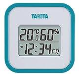 タニタ デジタル温湿度計 置き掛け両用タイプタイプ/マグネット付 ブルー TT-558-BL