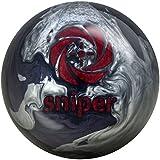 Motiv Midnight Sniper Bowling Ball Black/Silver/Red, 12lbs