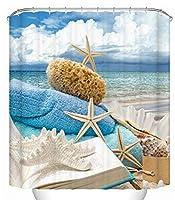 浴室のシャワーカーテン 世帯浴室の仕切りのカーテン、浴室のカーテン3Dのシャワーカーテンポリエステル防水浴室のカーテン (Color : 180*180cm, サイズ : E)
