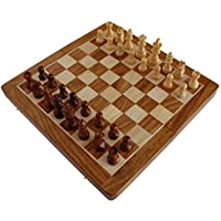 14 X 14 Inch Deluxe Folding Staunton Chess Set in Fine Rosewood - Beautiful, Big Elegant Magnetic Hard Wood Travel Chess Set with Perfect Pieces and a Wooden Game Board with Chessmen Storage Slots by SouvNear [並行輸入品]