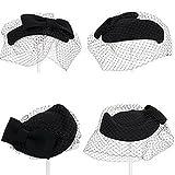 トーク帽 カクテル帽 礼装帽子 ブライダル トークハット ヘッドドレス フォーマル フリーサイズ ブラック