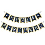 Wizard Castle Happy Birthday Party Banner Decoration (Includes 23ft Ribbon) [並行輸入品]
