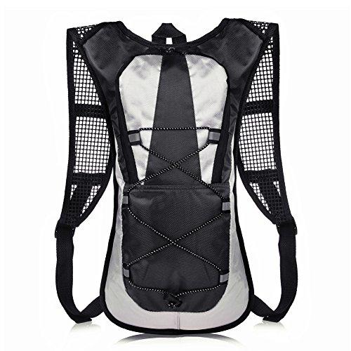 VBIGER サイクリングバッグ バックパック 軽量 自転車バッグ ランニング ウォーキング ジョギング ハイキングリュック アウトドア (ブラック)