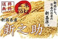元年産 新潟産新之助 玄米25kg 【玄米色彩選別済み】