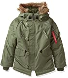 (アルファインダストリーズ)ALPHA INDUSTRIES INC KIDS N-3B JACKET TA8011 003 V.GREEN 120