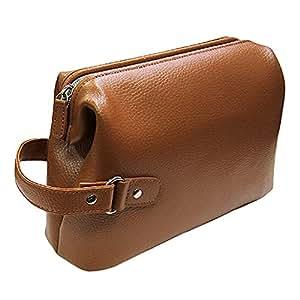 牛革 セカンドバッグ ダレス型 シンプル セカンドポーチ メンズ 紳士 普段使い 408 (キャメル)