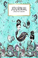 "Journal Lined Notebook: Audrey Mermaids | Blank Lined Journal | Gratitude Journal | 6"" x 9"" 100 Pg 