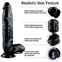 PLL 女性の陰茎のための12インチの超大きいシリカゲルの模擬防水オナニーマッサージャー ジーパン (Color : Black)