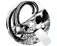 カスタマイズされた長方形の滑り止めのゴム製マウスパッド、頭部の哺乳類の骨組頭蓋骨賭博の円形のマウスパッド