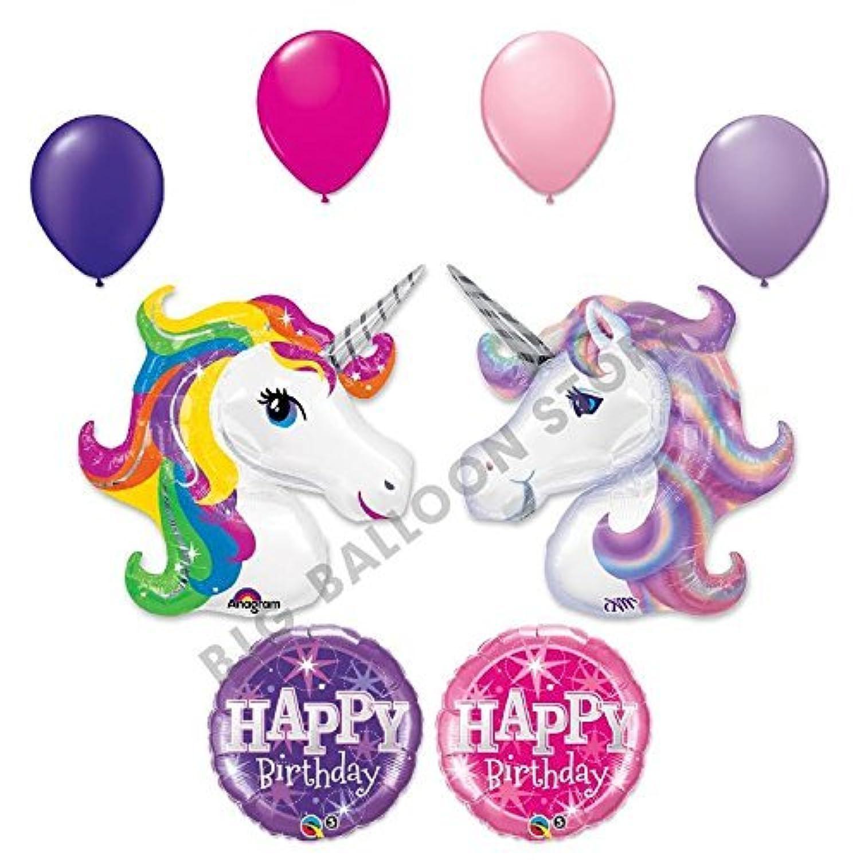 2つユニコーン10 pc Sparkle誕生日パーティーバルーンブーケ