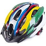 Osize メンズ女性多孔質換気マウンテンバイクヘルメットワンピース自転車ヘルメット(カラフル)