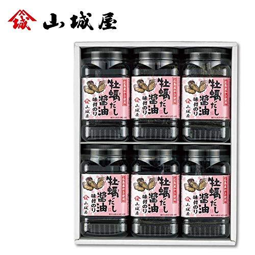 【お歳暮のし付き】山城屋 海苔 牡蠣だし醤油味付海苔 NK-30【栄養 うまい 縁起物 おつまみ 美味しい おやつ おにぎり おかず 海藻 缶 キャラ弁 健康 高級 】