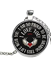 I Am So Proud to be共有Life with You necklace-white