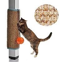 Dreamsoule つめとぎ 爪とぎ 猫用 爪とぎマット 家具保護 マジックテープ 取り付け簡単 爪とぎ防止シート 耐久性 猫用品 ペット用品 ペット グッズ テーブルの脚に固定 スペースを節約する (サイザル)