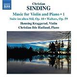 シンディング:ヴァイオリンとピアノのための作品集 第1集