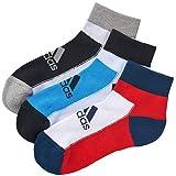 アディダス(adidas) kids 3Pショート ソックス DDV17 F92177 ソーラーブルー/ホワイト 21-23cm