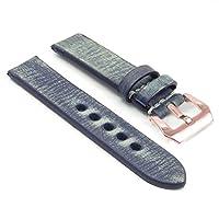 StrapsCo Extra Long Thick Distressedビンテージレザー時計バンドW /ローズゴールドpre-vバックル