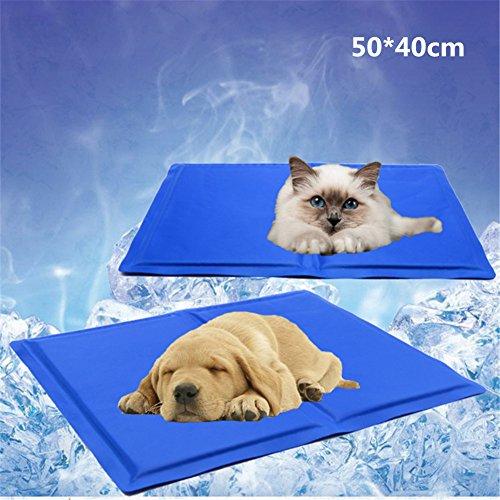 JTENG ペットクールマット ベッド ペット用ひんやりマット 犬猫用 多用途 折り畳み 涼感冷感マット 熱中症 暑さ対策 病予防 冷えマット 冷却ジェルシート (50*40cm)