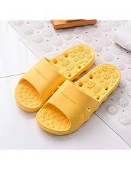 マッサージスリッパ厚い底中空速乾性滑り止め足の筋膜炎の足のツボマッサージ健康マッサージの靴夏のバスルームのスリッパ