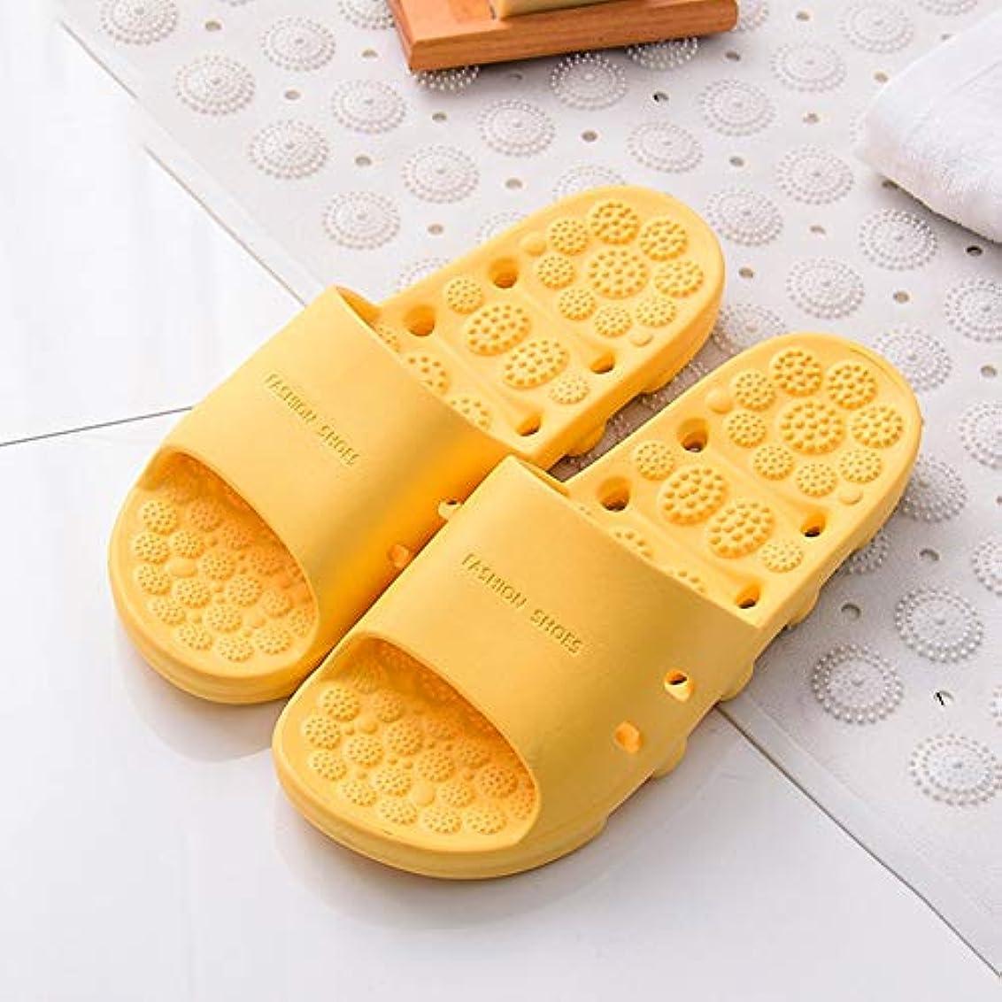 束忌み嫌う宿題マッサージスリッパ厚い底中空速乾性滑り止め足の筋膜炎の足のツボマッサージ健康マッサージの靴夏のバスルームのスリッパ