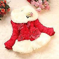 Children's Winter Leopard Coat Faux Fox Fur Collar Autumn Flower Keep Warm Thicken Kids Clothes Girls Jacket Outerwear Clothing
