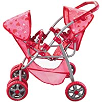 The New York Doll Collection Deluxe Twin Stroller Set for 18-Inch Doll [並行輸入品]