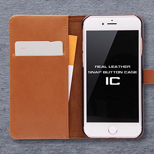 レイ・アウト iPhone7ケース 手帳型 ケース 本革(カード収納×3) スナップボタン/ブラック RT-P12RLC2/B