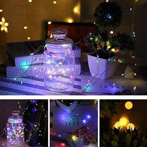 イルミネーションライト ワイヤーライト 10m 100個LED電球 4色