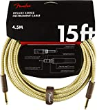 Fender シールドケーブル Deluxe Series Instrument Cable, Straight/Straight, 15', Tweed 08