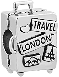 Third Time Charm Love to Travel Charm Suitcase Beads for Bracelets