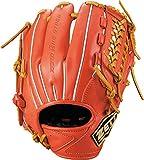 ゼット(ZETT) 少年野球 軟式 グラブ (グローブ) ゼロワンステージ サード 右投用 身長130cm~145cm 新軟式ボール対応 ディープオレンジ×オークブラウン(5836) BJGB71920