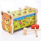 Kayiyasu カイヤス 知育玩具 クマちゃん カラフル 土竜叩き 子ども おもちゃ 立体 大きいサイズ 021-lzgy-d526346(13.5*23*14cm 約900g )